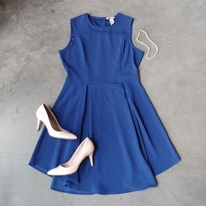 H&M Royal Blue Sleeveless Fit and Flare Dress 12